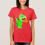 Cute Fire-Spitting Cartoon Baby Dragon T-Shirt