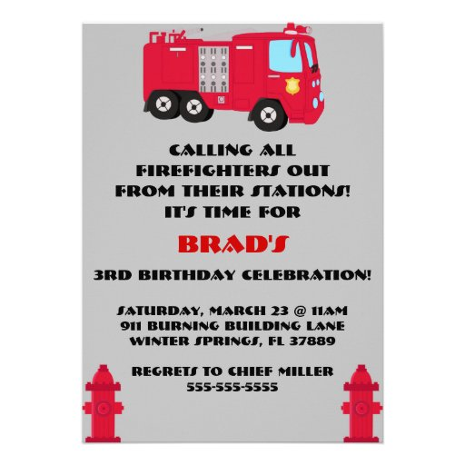 Firefighter Retirement Invitations with good invitations ideas