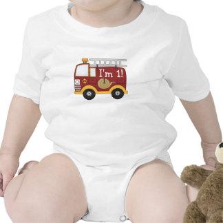 Cute Fire Truck Kids Birthday Personalized T Shirt