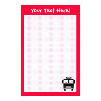 Cute Fire Truck Personalized Stationery
