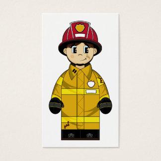 Cute Firefighter Bookmark Business Card