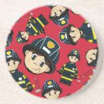 Cute Firefighter Coaster