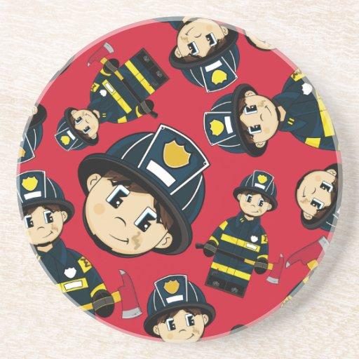 Cute Firefighter Coaster Zazzle
