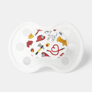 Cute Firefighter Love Print Pacifier