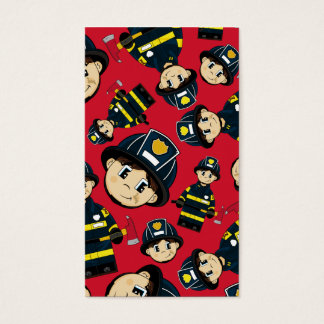 Cute Firefighter Pattern Bookmark Business Card
