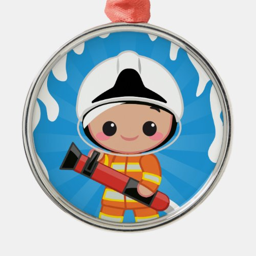 FireFighter Metal Ornament