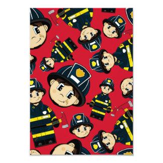 Cute Firefighter RSVP Card