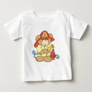 Cute Fireman Firefighter Bear Baby T-Shirt