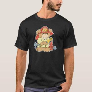 Cute Fireman Firefighter Bear T-Shirt