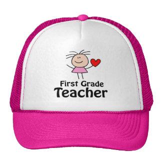 Cute First Grade Teacher Cap Mesh Hats