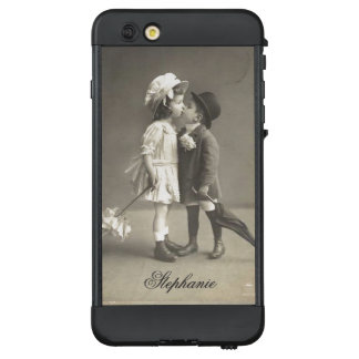 Cute First Kiss Antique Photograp c 1920s LifeProof NÜÜD iPhone 6 Plus Case