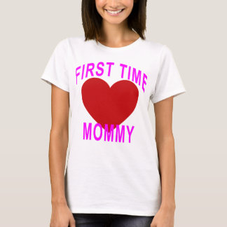 Cute First Time Mommy Maternity T-Shirt ;.png
