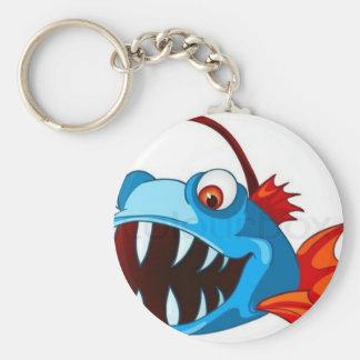 cute fish basic round button keychain
