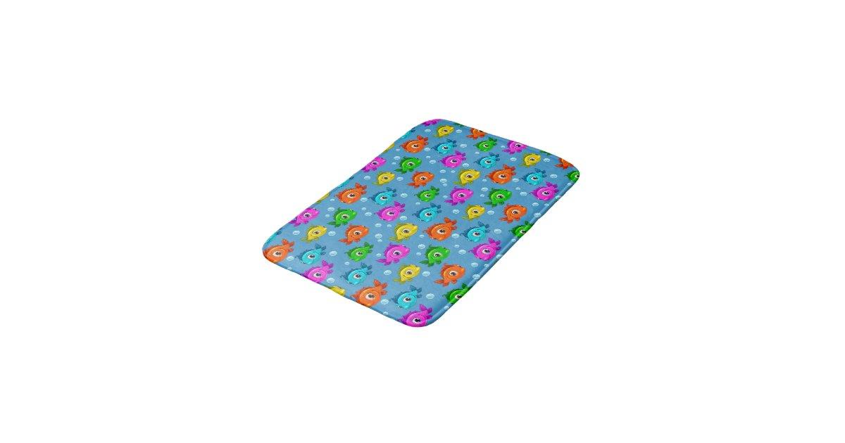 Cute fish bath mat zazzle for Fish bath mat