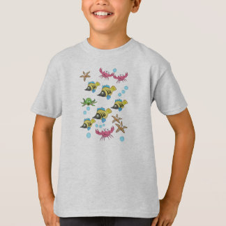 Cute fish, crabs, starfish T-shirt