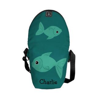 Cute Fish custom messenger bags