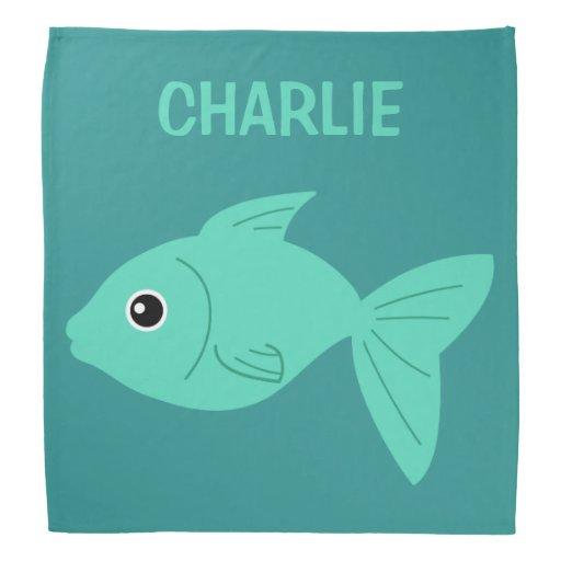 Cute fish custom name bandana zazzle for Cute names for fish