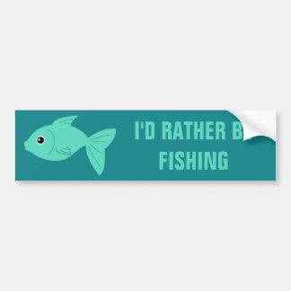 Cute Fish custom text bumpersticker Bumper Sticker