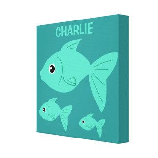 Cute Fish custom wrapped canvas print