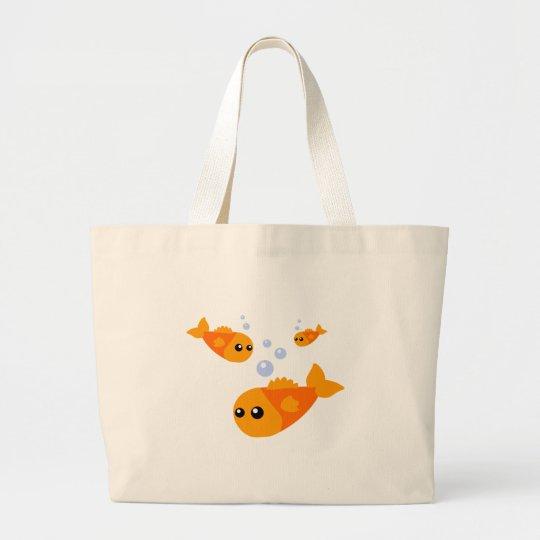Cute Fish Large Tote Bag