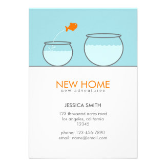 Cute Fish New Home Funny Announcement