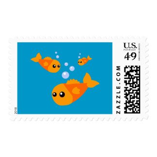 Cute Fish Postage Stamps