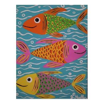 paintingbuzz Cute fish postcard