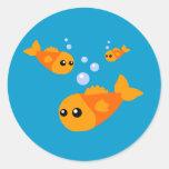 Cute Fish Round Sticker