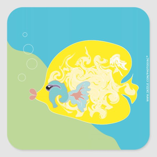 Cute Fish Square Sticker