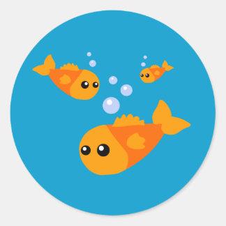 Cute Fish Classic Round Sticker