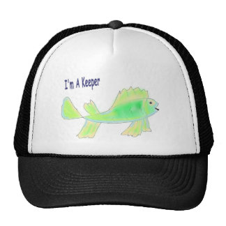 Cute fish with I'm a keeper text Trucker Hat