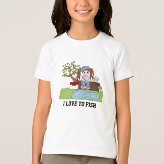 Cute fishing Girl's T-shirt