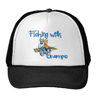 Cute Fishing with Gramps Trucker Hat