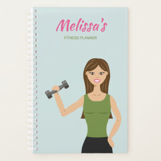 Cute Fitness Girl Illustration Workout Fitness Planner