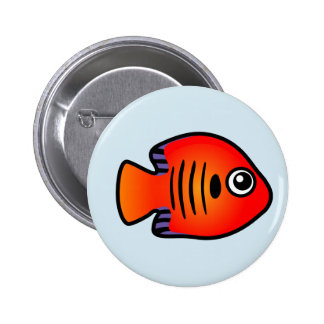Cute Flame Angelfish Button
