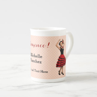 Cute Flamenco Dancer (Personalized) Tea Cup