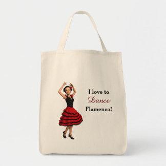 Cute Flamenco Dancer (Personalized) Tote Bag