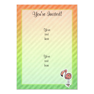 Cute Flamingo Design 5x7 Paper Invitation Card