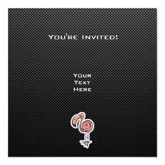Cute Flamingo; Sleek Invitation