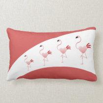 Cute Flamingo Two-Toned Lumbar Pillow
