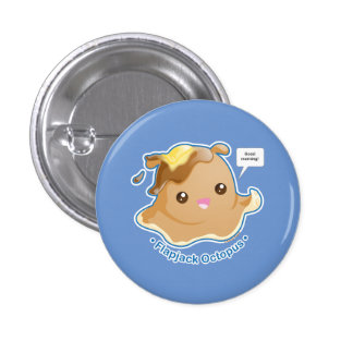 Cute Flapjack Octopus Button