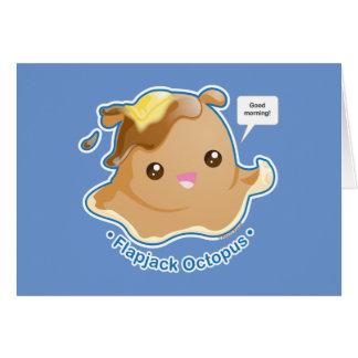 Cute Flapjack Octopus Card