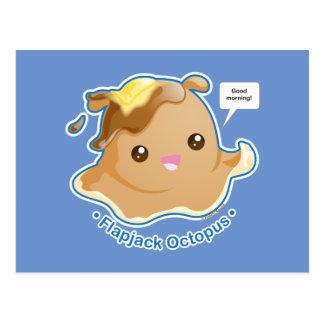 Cute Flapjack Octopus Postcard