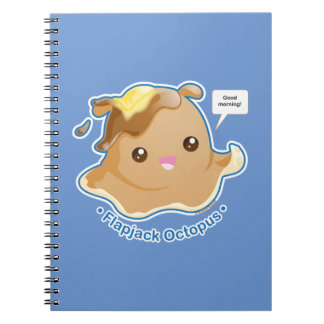 Cute Flapjack Octopus Spiral Notebook