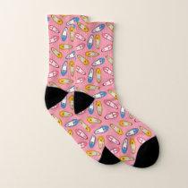 Cute Flat Shoes Pattern. Socks