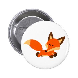 Cute Fleet Cartoon Fox Button Badge