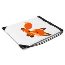 Cute Fleet Cartoon Fox Drawstring Backpack