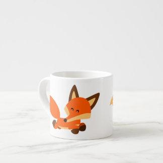 Cute Fleet Cartoon Fox Espresso Mug
