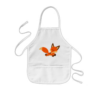 Cute Fleet Cartoon Fox Kids Apron