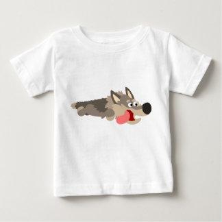 Cute Fleet Cartoon Wolf Baby T-Shirt
